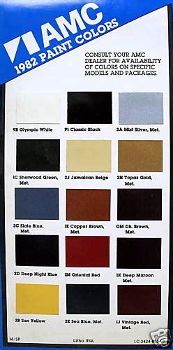 amc-paint-charts-1954-1988