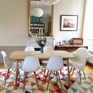 salle a manger salle a manger au style scandinave tapis With salle À manger contemporaine avec style scandinave bleu