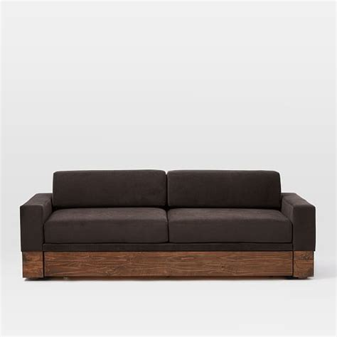 Daybed Sleeper Sofa by Emery Sofa Daybed W Trundle West Elm