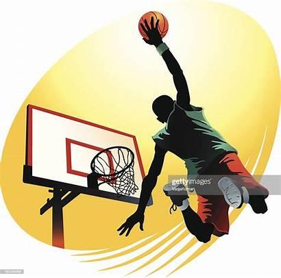 Dunk Slam Vector Basketball Powerful Illustration Graphic
