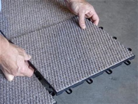 Basement Carpeting   TBF Carpeted Basement Floor Tiles