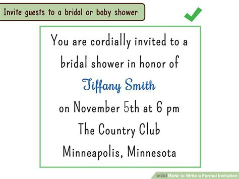 4 Ways To Write A Formal Invitation