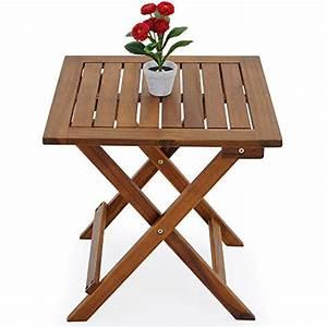 Table Jardin En Bois : table basse pliante en bois tables jardin d 39 appoint 46x46cm pliable acacia ~ Dode.kayakingforconservation.com Idées de Décoration