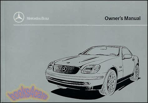 car service manuals pdf 2005 mercedes benz slk class auto manual 1999 mercedes slk230 kompressor owners manual book slk 230 handbook benz 1999 mb ebay
