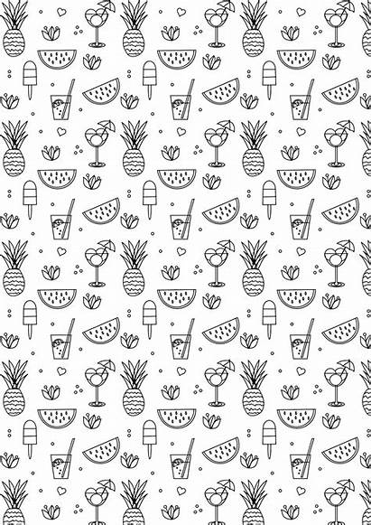 Coloring Printable Summer Pages Stickers Colouring Printables