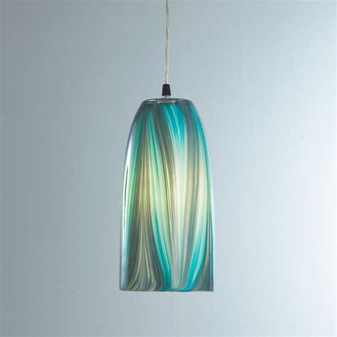 turquoise feather glass pendant light pendant lighting