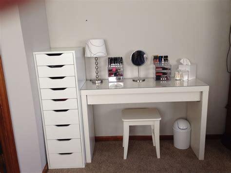 makeup desk ikea alex malm ikea and tables on