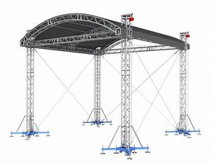 Arch shape roof fits 40 ft x 32 ft stage 41 ft x 328 ft for 40 foot roof truss
