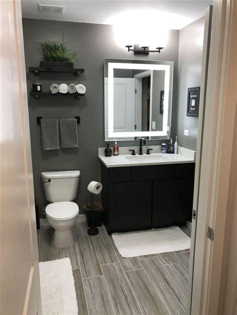 grey bathroom mens bathroom small bathroom wood floor