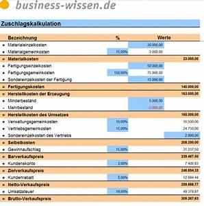Ablöse Gastronomie Berechnen : zuschlagskalkulation excel tabelle business ~ Themetempest.com Abrechnung