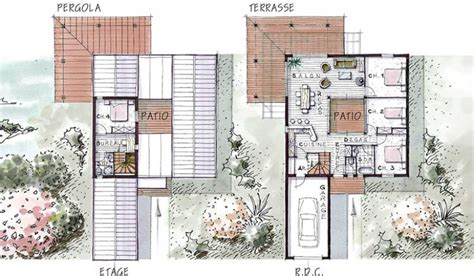 plan maison avec patio central plan de maison patio central le mans 13 oosaulenko xyz