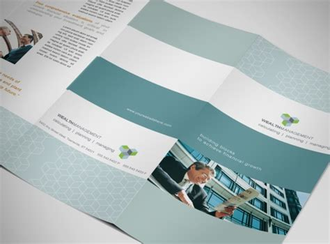 wealth management financial services business tri fold