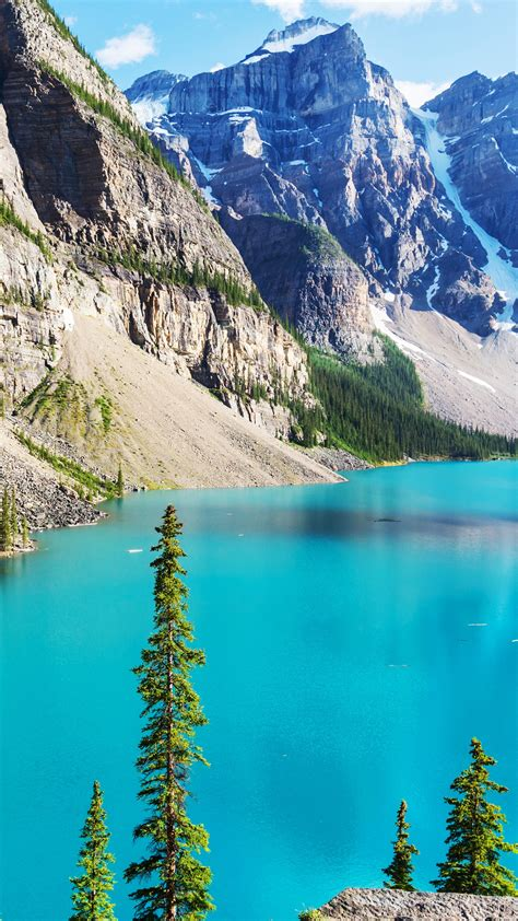 wallpaper moraine lake banff national park rocky