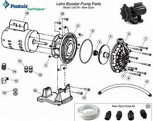 Pentair Letro Booster Pump Parts La01n New Style