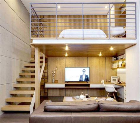 small apartment with mezzanine ideas teracee