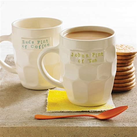 They can also be bought for personal use by customers who want to add a cool twist to their everyday morning routine. Personalised Handmade Pint Style Mug By Gilbert And Stone Ceramics | notonthehighstreet.com