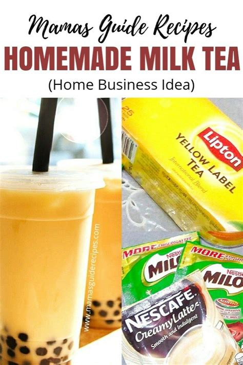 Well, the characters on this show spend an ungodly amount of time at their local boba stand (it's basically. Delicious Homemade Milk Tea Recipe, quick and easy to make. You can use the sachet ingredients ...