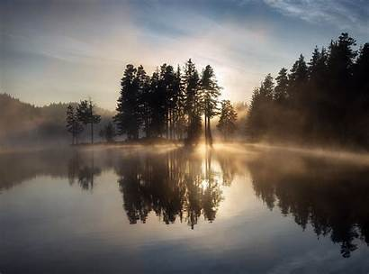 Reflection Water Landscape Trees Nature Wallpapers Natural