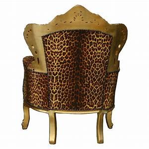 Thron leopard gold konig barock sessel exotisch afrika ebay for Barock sessel leopard