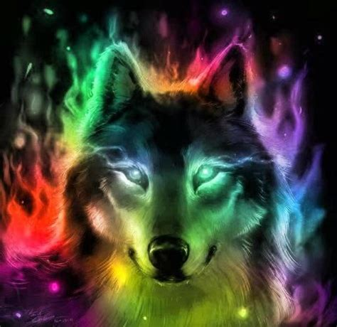 Anime Rainbow Wolf Wallpaper by Rainbow Wolves Wolf Wallpaper Wolf Wolf Pictures