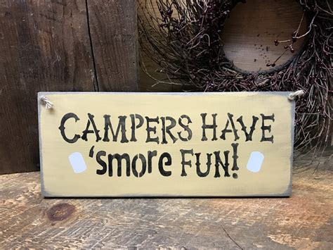 wooden cing sign cers 39 smore rv c
