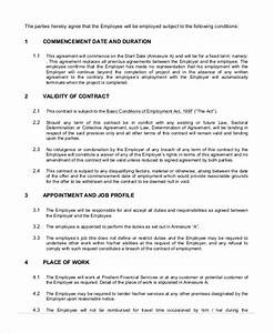 temporary employment agreement template employment With staffing contract template