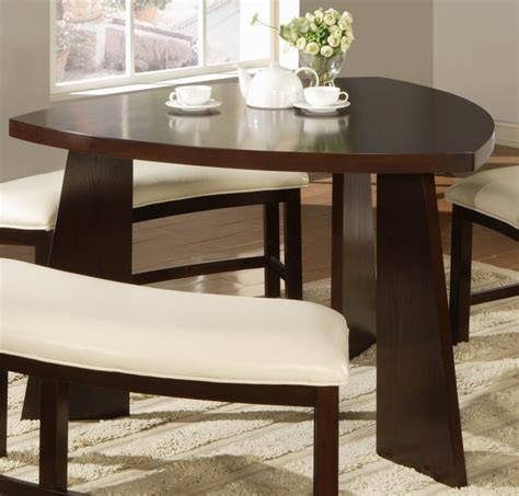 triangle dining table with bench triangle dining room table marceladick