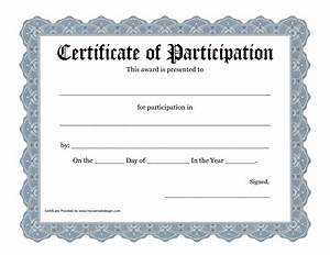 best photos of template of certificate recognition With free templates for certificates of participation