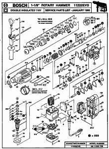 Bosch 1 1  8 U0026quot  Rotary Hammer Parts