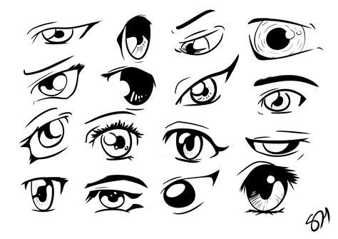 How To Draw Manga Anime Eyes 16 Different Eyes In Manga