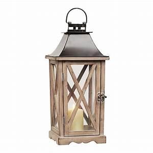 Natural Wood Lantern Kirklands