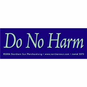 Do No Harm Sticker
