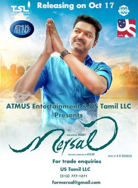 thalapathy vijays mersal release poster photosimages