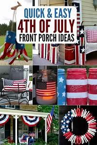 4th of July Front Porch Ideas- Patriotic Outdoor