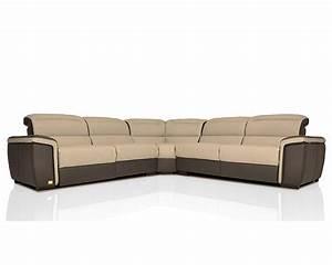 modern full italian leather sectional sofa w recliners With sectional sofa w recliners