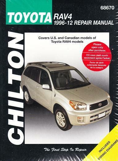 auto repair manual free download 1996 toyota rav4 navigation system 1996 2012 toyota rav4 chiltons repair service workshop manual book guide 2215 9781620922217 ebay