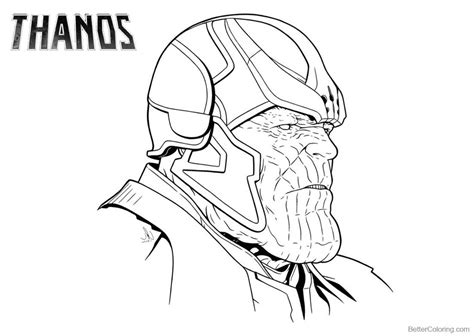 thanos coloring pages mad titan  printable coloring