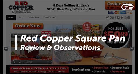 red copper square pan reviews    scam  legit
