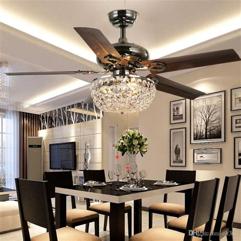 dining room ceiling fans with lights crystal ceiling fan wood leaf antique li and chandelier