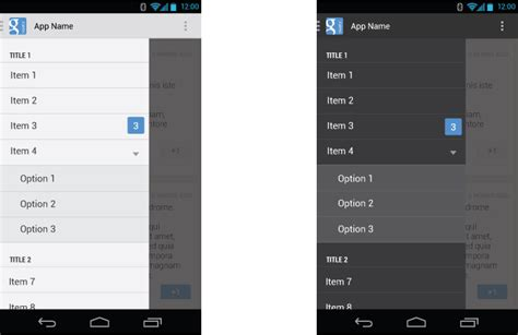 xamarin forms left toolbar item android navigation drawer with section stack overflow