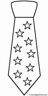 Coloring Neck Tie Father Ties Fathers Stars Shirt Necktie Printable Template Happy Clothing Pattern Crochet Bigactivities Templates Bow Crafts Activity sketch template