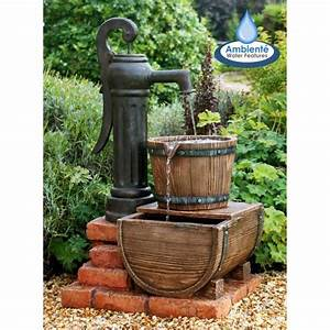 Fontaine A Eau Exterieur : primrose ambiente fontaine d 39 ext rieur pompe et sceau en ~ Dailycaller-alerts.com Idées de Décoration