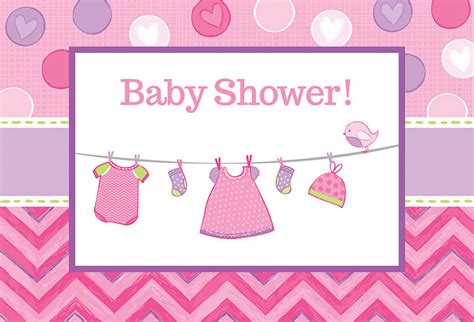 Baby Shower Girl Shower With Love Invitations (8