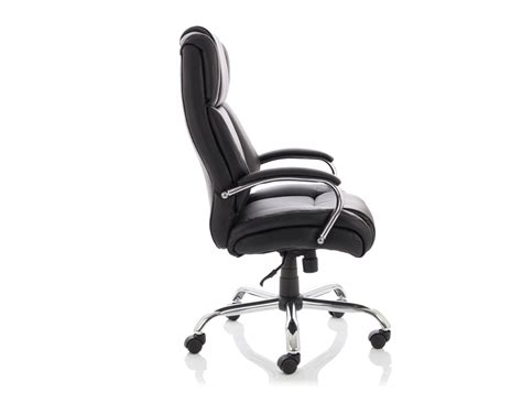 Dynamo Texas Leather Heavy Duty Executive Black Office Chair