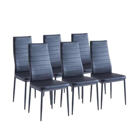 lot de 6 chaises de salle a manger sam lot de 6 chaises de salle 224 manger noires achat vente chaise salle a manger pas cher