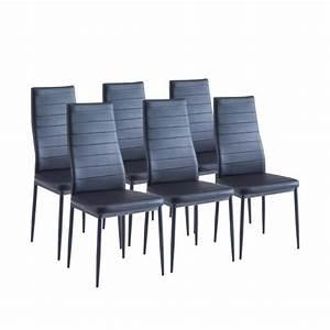Lot De 6 Chaises Salle à Manger : sam lot de 6 chaises de salle manger noires achat vente chaise salle a manger pas cher ~ Teatrodelosmanantiales.com Idées de Décoration