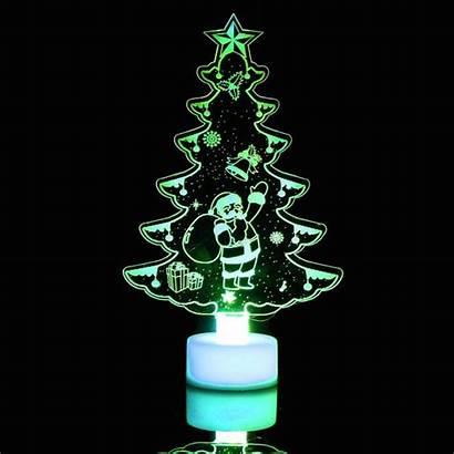 Led Trees Christmas Tree Acrylic Clear Decorations