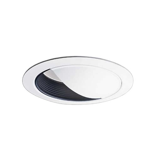 halo 6 in black recessed ceiling light wall wash baffle
