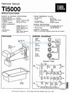 Jbl Ti5000 Technical Manual Pdf Download