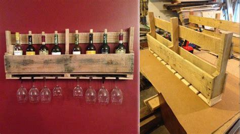 build  pallet wine rack  store  favorite bottles  glasses